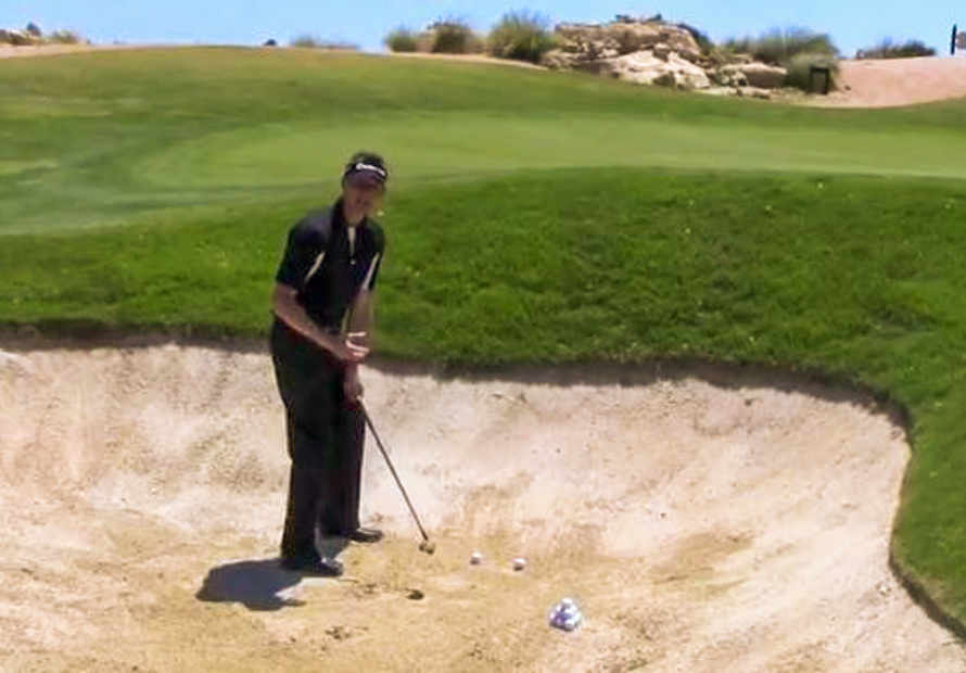 Bunkers  Keep the back swing slow